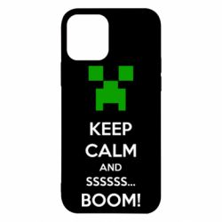 Чехол для iPhone 12/12 Pro Keep calm and ssssssss...BOOM!