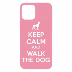 Чохол для iPhone 12/12 Pro KEEP CALM and WALK THE DOG