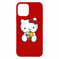 Чехол для iPhone 12/12 Pro Kitty с букетиком