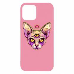 Чохол для iPhone 12/12 Pro Котик сфінкс рожевий