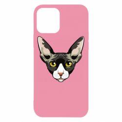 Чохол для iPhone 12/12 Pro Котя сфінкс жовті очі