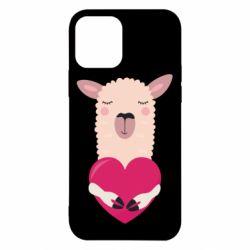 Чохол для iPhone 12/12 Pro Lama with heart