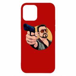 Чохол для iPhone 12/12 Pro Лебовськи з пістолетом