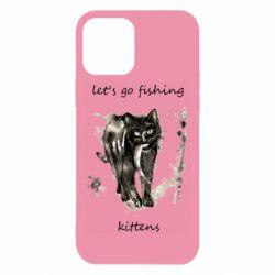 Чехол для iPhone 12/12 Pro Let's go fishing  kittens