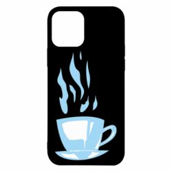 Чехол для iPhone 12/12 Pro Light blue cup of coffee