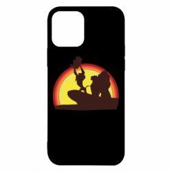 Чехол для iPhone 12/12 Pro Lion king silhouette