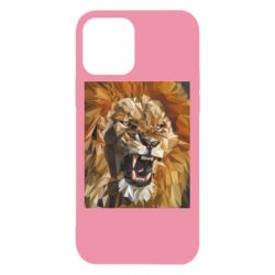 Чохол для iPhone 12/12 Pro Lion roars low poly style