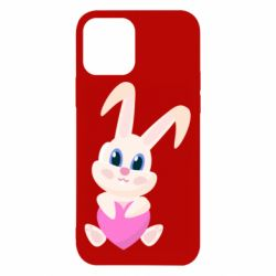 Чехол для iPhone 12/12 Pro Little rabbit with a heart