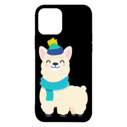 Чехол для iPhone 12/12 Pro Llama in a blue hat