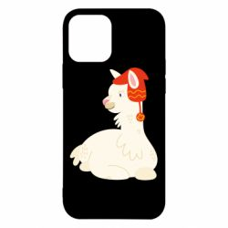 Чехол для iPhone 12/12 Pro Llama in a red hat