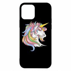 Чохол для iPhone 12/12 Pro Кінь з кольоровою гривою