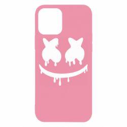 Чехол для iPhone 12/12 Pro Marshmello and face logo