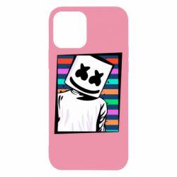 Чехол для iPhone 12/12 Pro Marshmello Colorful Portrait