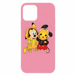 Чехол для iPhone 12/12 Pro Mickey and Pikachu