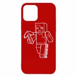 Чехол для iPhone 12/12 Pro Minecraft and hero nickname