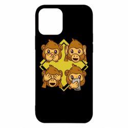 Чехол для iPhone 12/12 Pro Monkey See Hear Talk
