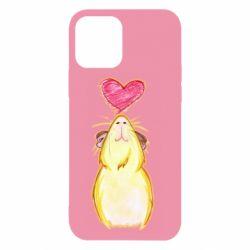 Чохол для iPhone 12/12 Pro Морська свинка і сердечко
