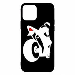 Чехол для iPhone 12/12 Pro Мотоциклист на спорте