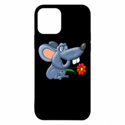 Чехол для iPhone 12/12 Pro Mouse with a flower