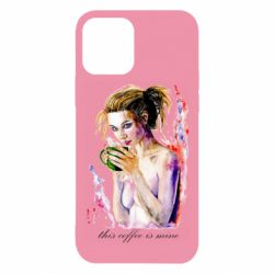 Чехол для iPhone 12/12 Pro Naked girl with coffee