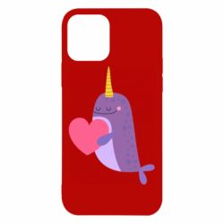 Чехол для iPhone 12/12 Pro Narwhal with a heart