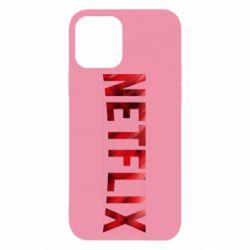 Чехол для iPhone 12/12 Pro Netflix logo text