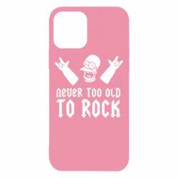 Чехол для iPhone 12 Never old to rock (Gomer)