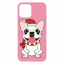 Чехол для iPhone 12/12 Pro New Year's French Bulldog