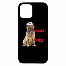 Чехол для iPhone 12/12 Pro Nurse loves pugs