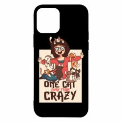 Чехол для iPhone 12/12 Pro One cat away from crazy