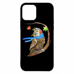 Чехол для iPhone 12/12 Pro Owl with a watercolor scarf