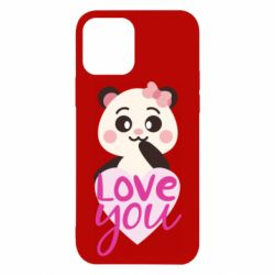 Чехол для iPhone 12/12 Pro Panda and love