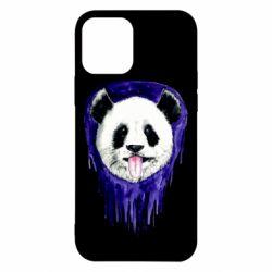 Чехол для iPhone 12/12 Pro Panda on a watercolor stain