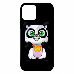 Чохол для iPhone 12 Panda with a medal on his chest