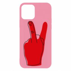 Чехол для iPhone 12/12 Pro Peace and middle finger