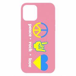 Чехол для iPhone 12/12 Pro Peace, Rock, Love