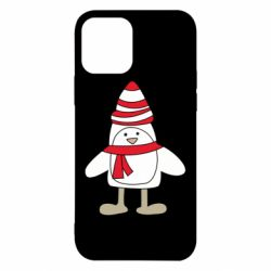 Чехол для iPhone 12/12 Pro Penguin in the hat and scarf