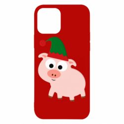 Чохол для iPhone 12/12 Pro Pig in a New Year's cap