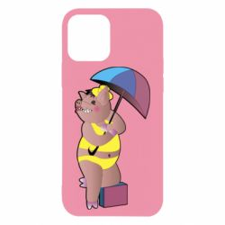 Чохол для iPhone 12/12 Pro Pig with umbrella