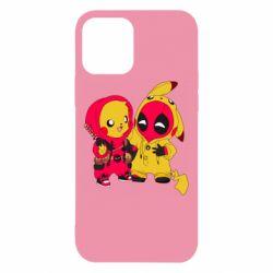 Чехол для iPhone 12/12 Pro Pikachu and deadpool