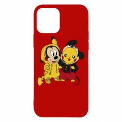 Чехол для iPhone 12/12 Pro Пикачу и Микки Маус
