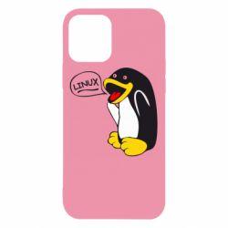 Чехол для iPhone 12 Пингвин Линукс