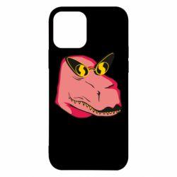 Чохол для iPhone 12/12 Pro Pink dinosaur with glasses head
