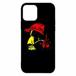 Чехол для iPhone 12 Писающий хулиган-пожарный