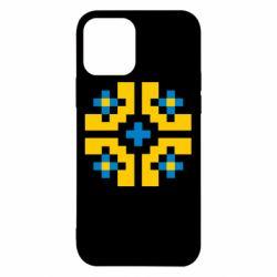 Чехол для iPhone 12/12 Pro Pixel pattern blue and yellow