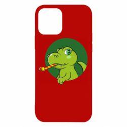 Чохол для iPhone 12/12 Pro Святковий динозавр