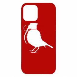 Чехол для iPhone 12 Птичка с гранатой