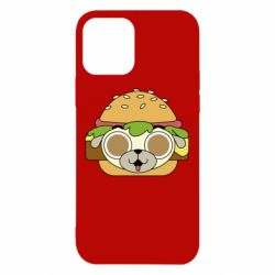 Чохол для iPhone 12/12 Pro Pug Hamburger