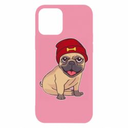 Чехол для iPhone 12/12 Pro Pug in a red hat