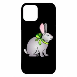Чехол для iPhone 12/12 Pro Rabbit with a green bow